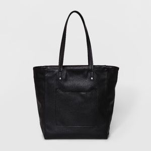 Black Zip Closure Hayden Tote Bag Universal Thread